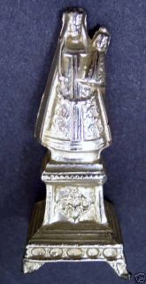 antique art statue of our lady madonna catholic icon one