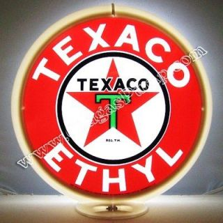 texaco ethyl gasoline gas oil pump globe free s h