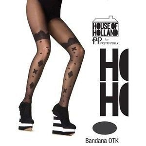 House of Holland Pretty Polly Bandana Over The Knee Tights   One Size