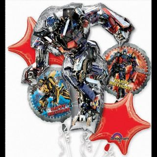 TRANSFORMERS BALLOON BOUQUET BIRTHDAY MYLAR FOIL   5 BALLOONS