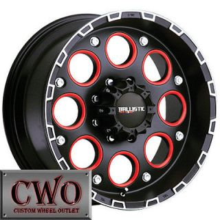 17 Black Ballistic Enigma Wheels Rims 5x127 5 Lug Chevy GMC C1500 Jeep