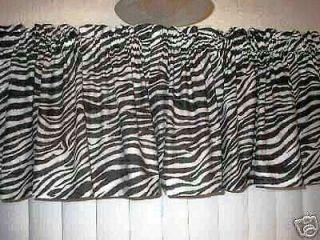 ZEBRA ANIMAL PRINT Black & White Curtain Valances NEW 13 NEW