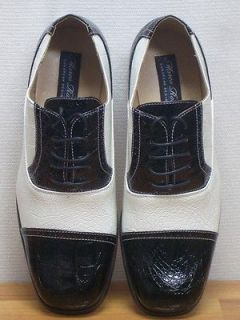 MEN ITALIAN STYLE BLACK & WHITE SHOES SIZE 10 NEW MENS DRESS SHOES