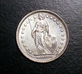 switzerland franc 1957 unc silver swiss coin expedited shipping