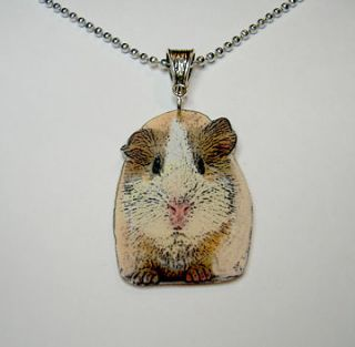 Guinea Pig Cavie Necklace Pendant Charm Cute Handcrafted in USA
