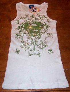 TEEN JUNIORS DC COMICS SUPER GIRL TANKTOP T shirt MEDIUM NEW w/ TAG