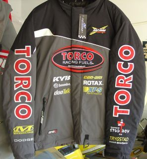 ski doo warnert racing doo torco talk jacket large time