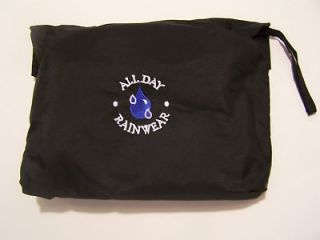 newly listed allday golf rain suit zipoff sleeves black 3xl xxxlarge