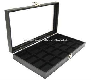glass top 20 zippo lighter black collectors display case buy