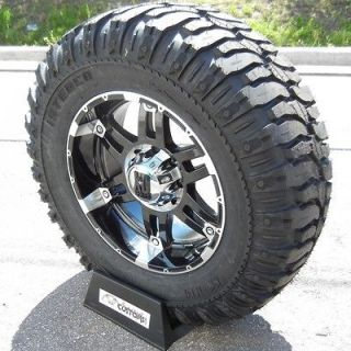 20 BLACK XD SPY RIMS & 37 SUPER SWAMPER TIRES CHEVY GMC SIERRA