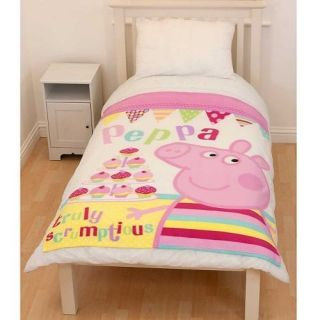 Peppa Pig Cupcake Panel Fleece Blanket Throw Brand New Gift