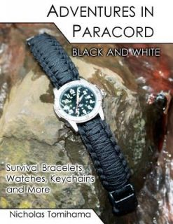 Adventures in Paracord Black and White Survival Bracelets, Watches