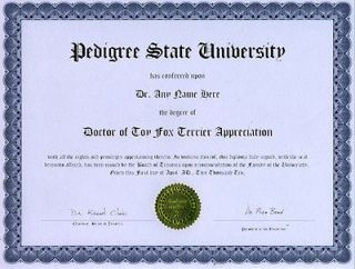 doctor toy fox terrier diploma dog puppy lover time left