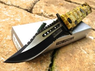 Tac Force Large Assisted Opening Bowie Survival Rescue Folding Knife