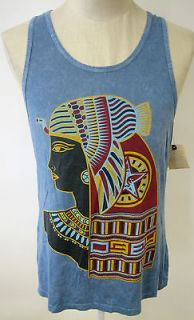 OBEY CLOTHING QUEEN OF THE NILE MENS TANK TOP SHIRT ANCIENT EGYPT ART