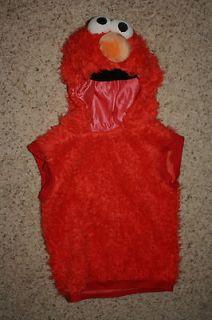 SESAME STREET ELMO Boys Girls Plush COSTUME Halloween 3 4T Red Furry