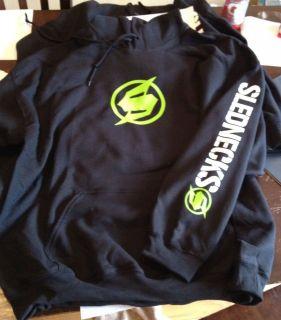 SLEDNECKS hoodie gildan S M L 1 2 3 4 5 XL BLACK white LIME logos NEW
