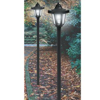 new 2 pack coach style solar light lamp posts time