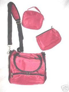 SAMSONITE Take It All BAG Microfiber RED Brand New Travel Bag Set