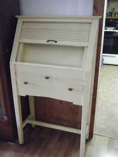 Small Roll Top Wood Optometrist Trial Lens Cabinet Desk Eye Doctor