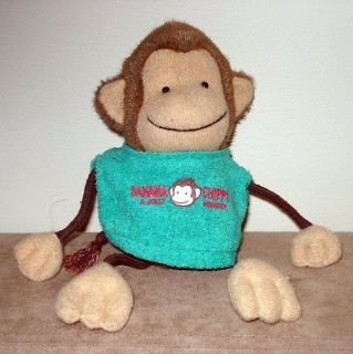 New BANANA A JOLLY 8.5 Chippy Monkey Plush Stuffed Animal Cute