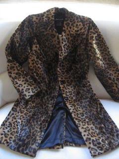 Womens Arden B. Leopard Print 3/4 Length Fitted Jacket/Blazer