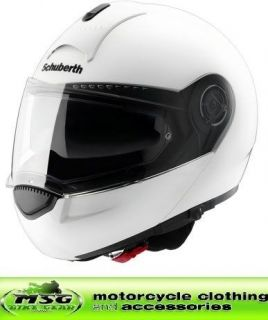 schuberth c3 flip motorcycle helmet gloss white small from united