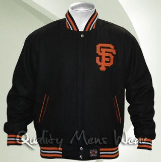SAN FRANCISCO GIANTS Wool Jacket 3 Size Black Orange Reversible Water