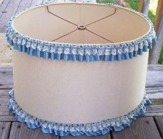 vintage oval lamp shade with lace ribbon trim time left