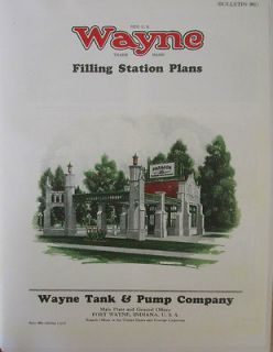 WAYNE VISIBLE GAS PUMP Gas Station Plans ILLUSRATED CATALOG