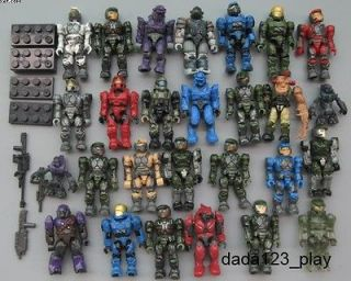 Mega Bloks Halo Reach Figure Master Cheif Spartan Grunts Arbiter BM54