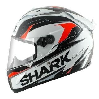 shark race r pro kimbo white black orange motorcycle helmet