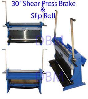 30 Shear Press Brake Bender Slip Roll Roller Sheet Metal Finger Box