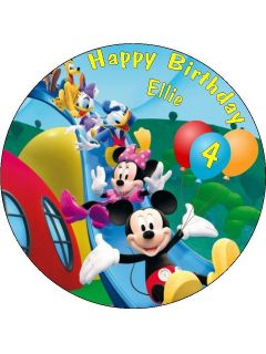 Personalised Mickey Mouse Clubhouse Icing Cake Top Topper Mickys