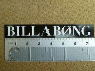 billabong black white long rectangle sticker decal