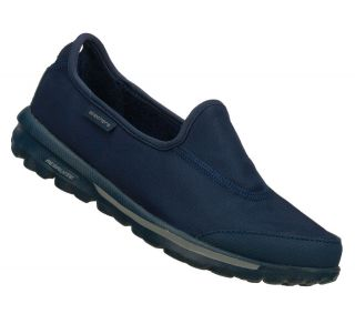 SKECHERS SHOES 13509 GO WALK WOMEN NAVY SPORT SLIP ON LIGHT WEIGHT