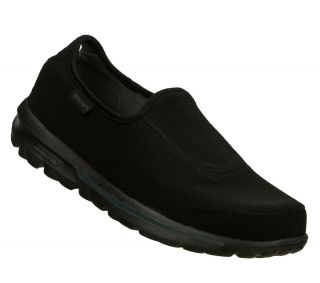 SKECHERS SHOE 53514 GO WALK RECOVERY MEN NEW BLACK SOCK LESS CASUAL