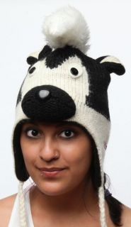 knitwits delux sarge skunk black white pilot animal hat