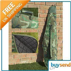 padded camo gun air rifle shotgun carry case slip bag