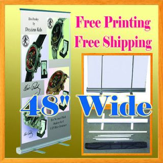 Retractable Roll Up Banner Stand FREE GRAPHIC PRINTING Trade Show 47