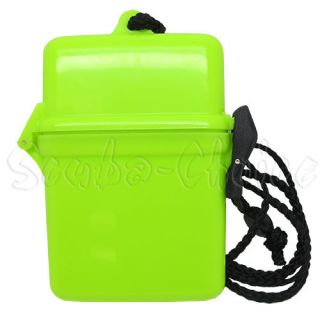 Scuba Diving Dive Diver Waterproof Dry Box Case Container w/ String