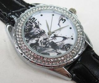 New Leather 118 Diamond Crystal Watch / Metal Gear Solid 4