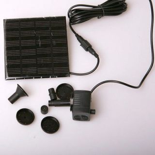 Solar Panel Water Pump Power Kit Fountain Pool Garden Pond Submersible