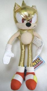 Large Sonic the Hedgehog Plush Doll   Super Gold Sonic 25in Plush Doll