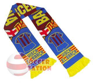 fc barcelona football club scarf visca el barca from united