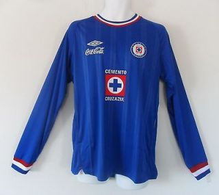nwt Umbro CRUZ AZUL OFFICIAL Mexico Futbol Football Soccer Jersey