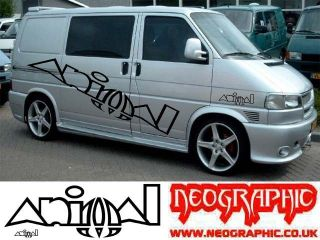 BADGE CAMPER VAN GRAPHICS STICKERS DECALS x4 SURF VITO SPRINTER VW