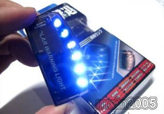 solar charger car burglar alarm auto led light sensitiv from