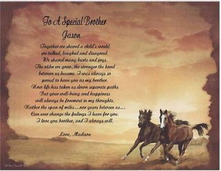 Brother Personalized Poem Gift For Birthday Christmas Fathers Day