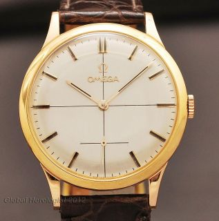 SWISS OMEGA REF 121.0009 18K SOLID GOLD MANUAL WIND VINTAGE 1960 MENS